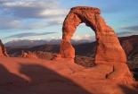 Delicate Arch with background of La Sal Mountains