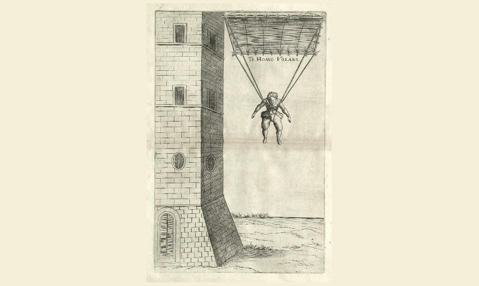 faust vrančić padobran skica